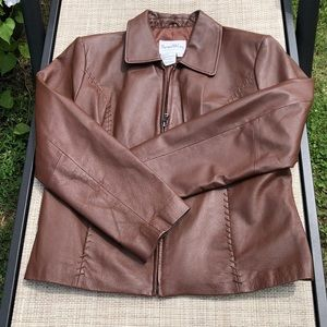 MOCHA SZ L 💯 mint leather PAMELA MCCOY